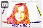 Turn your photos into a crayon coloring