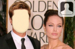 Brand Pitt and Angelina Jolie Face in Hole