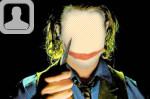 Dark Knight Joker Face in Hole