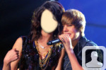 Justin Bieber Face in Hole