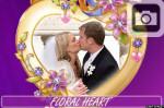 floral heart frame