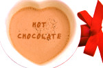 hot chocolate christmas valentines day heart mug