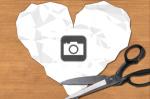 Paper Heart Photo Frame