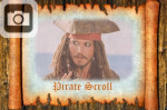 paper scroll pirates treasure map jack sparrow caribbean
