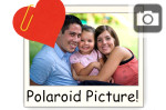 polaroid picture photo heart paperclip