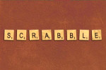 srabble board game text tiles letters