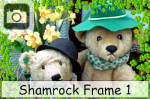 shamrock photo frame st patricks day clovers