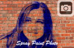 spray paint your photo onto a brick wall and tag it with some graffiti