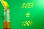 beer and lime wedge slice st patricks day liquor corona