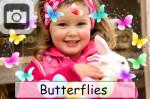 butterflies easter springtime eggs