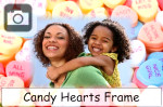 candy hearts photo frame valentines day