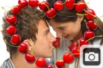Valentines Day Cherries Heart