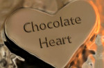 chocolate heart melting valentines day