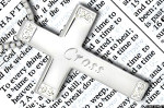 sterling silver cross necklace pendant bible religious christian engraved engraving birthstones jewelry
