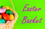 easter basket painted eggs