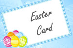 easter greeting card message painted eggs