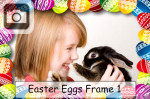 easter eggs frame photo painted