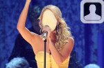 Carrie Underwood Face in Hole