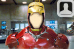 Iron Man Face in Hole