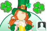 Leprechaun Girl Face in Hole