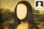 Mona Lisa Painting Face in Hole