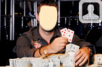 Poker Champion Face in Hole