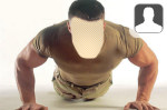 Pushup Soldier Face in Hole