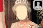 Queen Elizabeth II Face In Hole