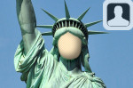 Statue of Liberty Face in Hole
