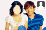 Zac Efron and Vanessa Hudgens Face In Hole