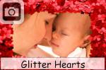 glitter hearts valentines day sparkles