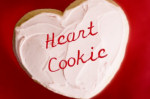 frosted heart shaped cookie valentines day