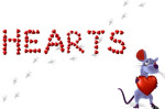 heart letters rat mouse rodent valentines day