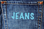 bluejeans stitched back pocket sewed sewing