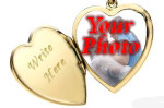 gold photo locket silver engraved heart shaped pendant jewelry