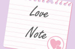 pink hearts love note letter paper valentines day