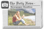 write a headline for your photo in a newspaper