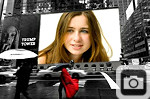New York Billboard Photo Frame