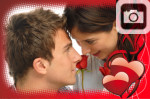 Red Hearts Frame Valentines Day