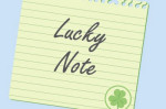 shamrock note lucky message paper st patricks day