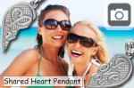 express your love or friendship with a shared heart pendant