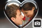 Silver Heart Valentines Day Frame