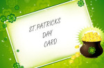 st patricks day greeting card pot of gold