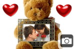 Teddy Bear Valentines Day Frame